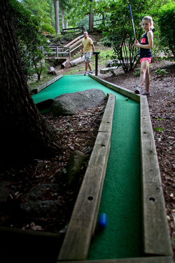 The Village has a full plate of activities and recreation for the entire family. Some of the country's best mountain bike and hiking trails surround the Village. The disc golf and Hillbilly putt-putt courses, tennis and volleyball courts, game room and boating on Fontana Lake are just the start of every day in the Village.