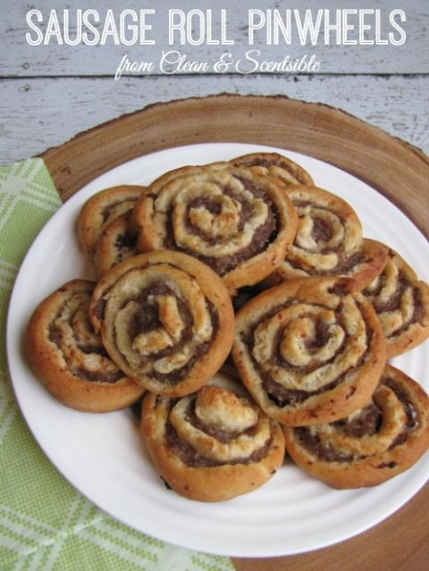 Sausage Roll Pinwheels - a little twist on the ol' favorite!