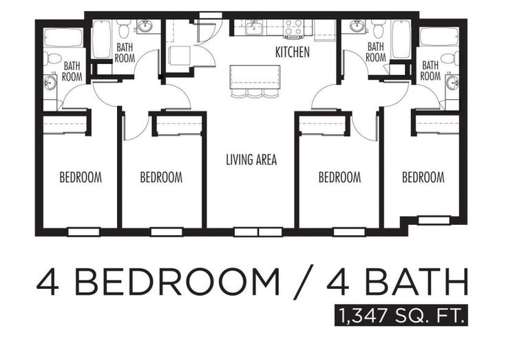 Plan Of Four Bedroom Flat Recommendny Com House Plans In ...