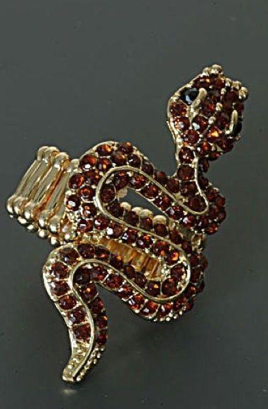 Prachtige slangen ring.