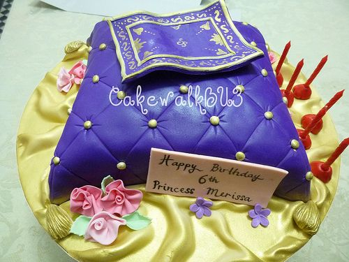 Cushion cake | Purple cushion for Princess Jasmine to sit on… | Flickr