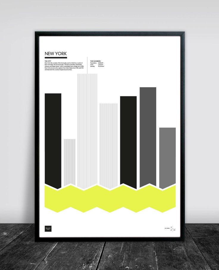 NEW YORK YELLOW 50 X 70 CM via Buus Works. Click on the image to see more!