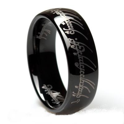 Gyűrűk Ura: Sauron Frodó Egy Gyűrű Fekete Tungsten Wolfram Gyűrű