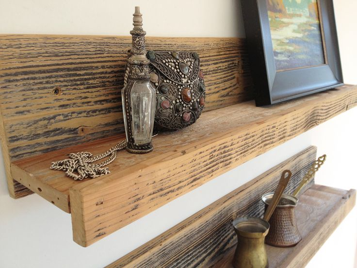 Two 24 wall mounted reclaimed wood shelves copy from for Reclaimed wood dc