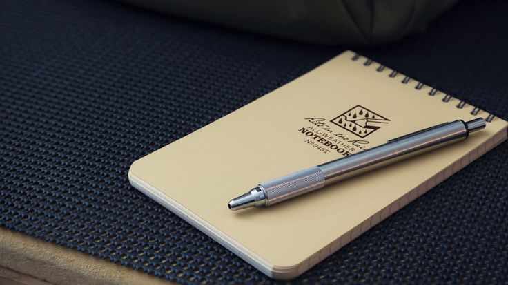 A #Reddit paper/pen combo of our 946-T and a Zebra F-701 space pen mod  #Pen #Notebook #EDC