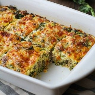Sweet Potato, Sausage, Kale Breakfast Casserole