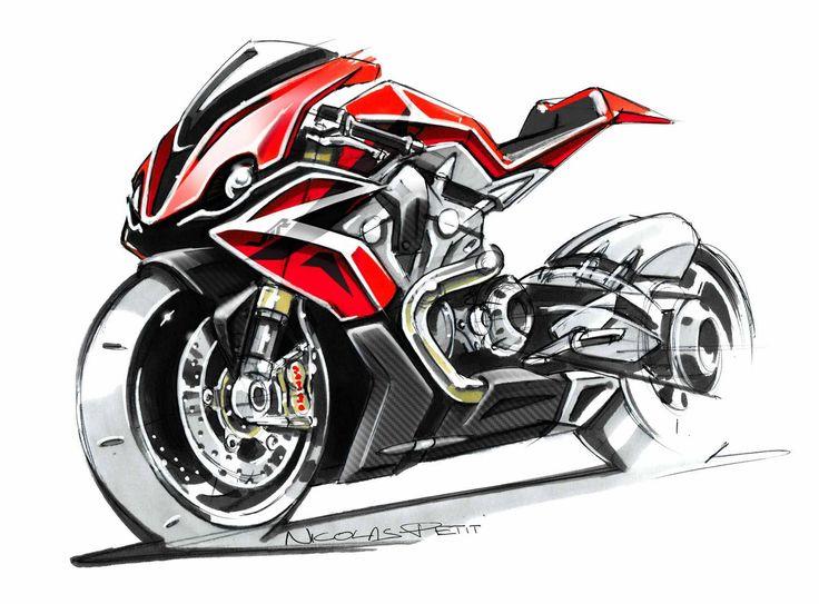 Honda RC51 Concept Sketch by Nicolas Petit
