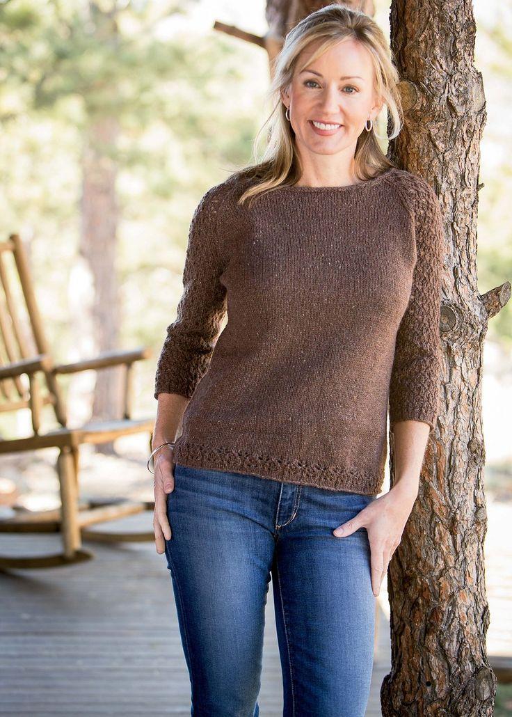Корпус пуловера выполняется вкруговую от нижнего края до пройм. Для вязания пуловера Вам потребуется 8 (8, 9, 10, 11, 11) мотков