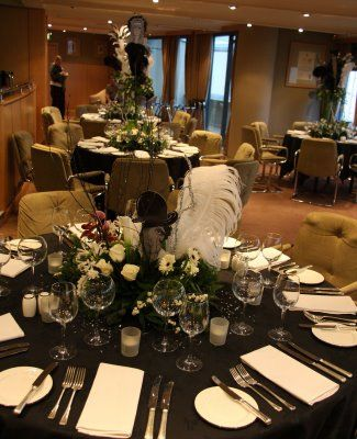 34 best images about 70th b day on pinterest 70th for Art deco wedding decoration ideas