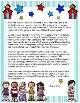 BACK TO SCHOOL WELCOME LETTER TO STUDENTS {EDITABLE} - TeachersPayTeachers.com
