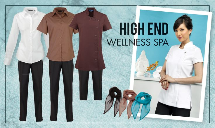 Choose a colour and work it through your spa team to create a co-ordinated, proffessional look!