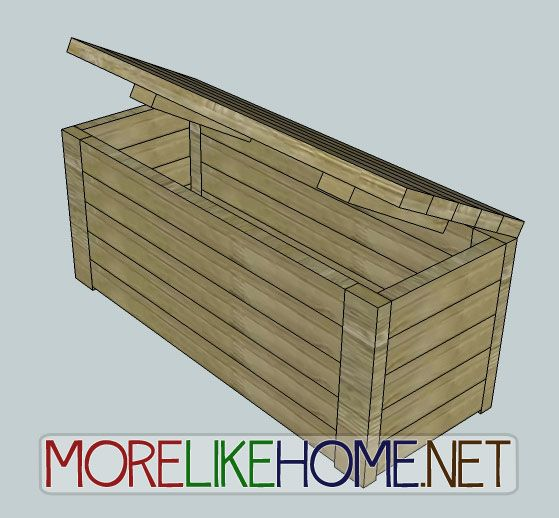 More Like Home: Day 17 - Build an Outdoor Storage Bench