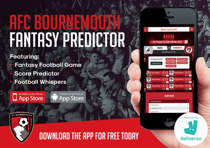 Bournemouth launch predictor game app with Deliveroo prizes http://www.insideworldfootball.com/2016/10/31/bournemouth-launch-fan-game-app-deliveroo-prizes/
