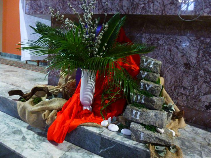 Niedziela Palmowa 2017 - dekoracja ołtarza (Palm Sunday)