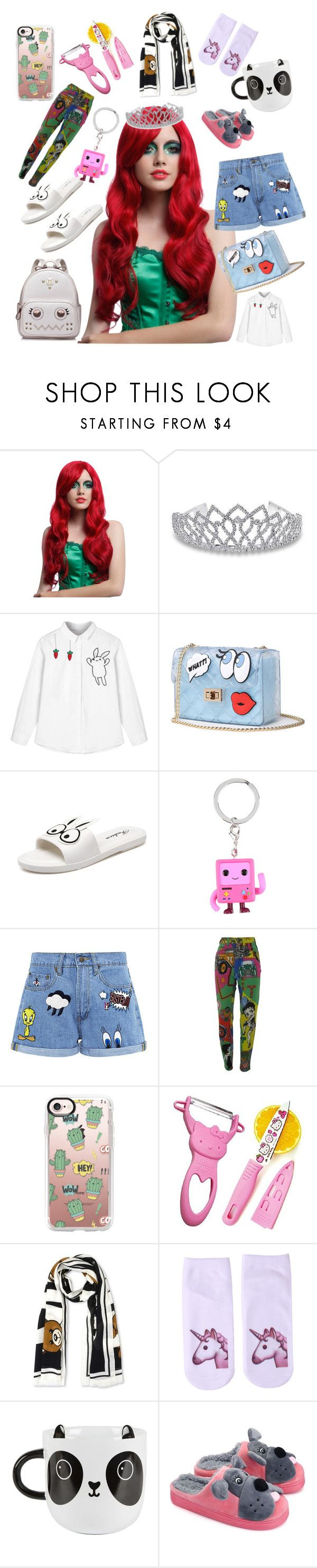 """Cartoon"" by heidihansen0505 on Polyvore featuring Hot Topic, Bling Jewelry, WithChic, Cartoon Network, Paul & Joe Sister, Versace, Casetify, Hello Kitty, Moschino and Sass & Belle"