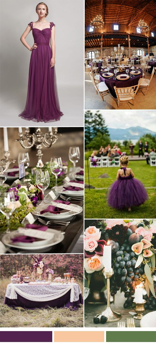 TBQP327 eggplant plum purple fall wedding color ideas - long purple bridesmaid dress http://www.tulleandchantilly.com/eggplant-sweetheart-tulle-bridesmaid-dress-with-floral-straps-p-744.html