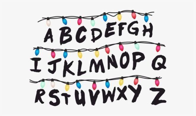 Stranger Things Clipart Stranger Things Alphabet Wa Stranger Things Sticker Stranger Things Alphabet Wall Stranger Things Font