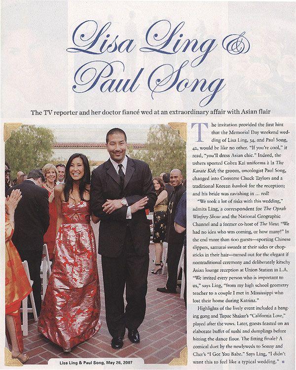 Lisa Ling's wedding.