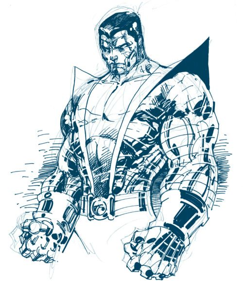 Marvel Comics Colossus | Sketch Of Colossus By Jim Lee | Comic Book Artwork | Comics | Pinterest ...