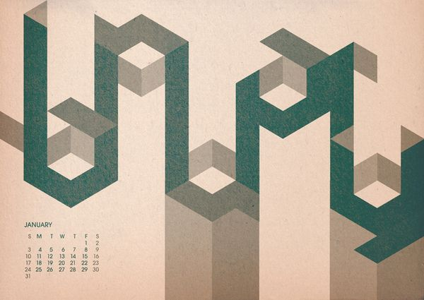 Hard to Read Calendar - 2010 by Timi Everent
