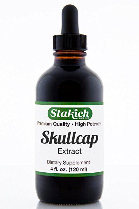 Stakich Skullcap (Scutellaria barbata) 4 oz Liquid Extract - Top Quality