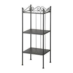 This is for bathrooms, but I feel like something like this would be good for kitchen storage. Then we could add shelves above on the wall if we wanted! RÖNNSKÄR Shelving unit - IKEA