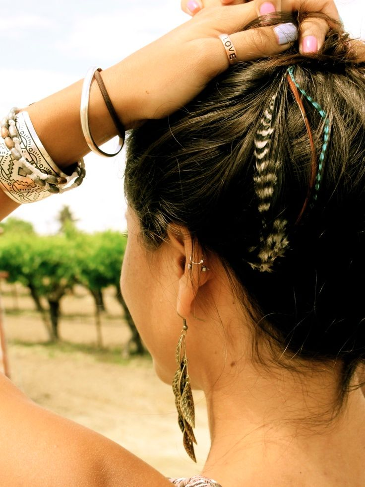 Summer Boho Chic Feathers In Your Hair | HelloSociety Blog