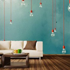 Red Edison Mural L, $590, now featured on Fab.
