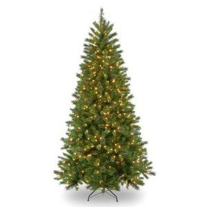 "Pre-Lit 7' Spring Lake Pine Tree by National Tree Co.. $110.81. 400 lights; 808 tips; 45"" diameter. 7'. 7ft clear tree. Clear. SLK2-302-70-C Features: -Pre-lit with 400 clear lights.-If one bulb burns out, others remain lit.-Flame-resistant and non-allergenic.-Packed in reusable storage carton. Includes: -Includes sturdy folding metal tree stand.-Includes spare bulbs and fuses. Construction: -All metal hinged branch construction. Warranty: -5-Year tree warranty/2-y..."