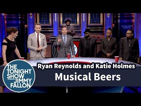 The Tonight Show Starring Jimmy Fallon: Musical Beers with Ryan Reynolds and Katie Holmes