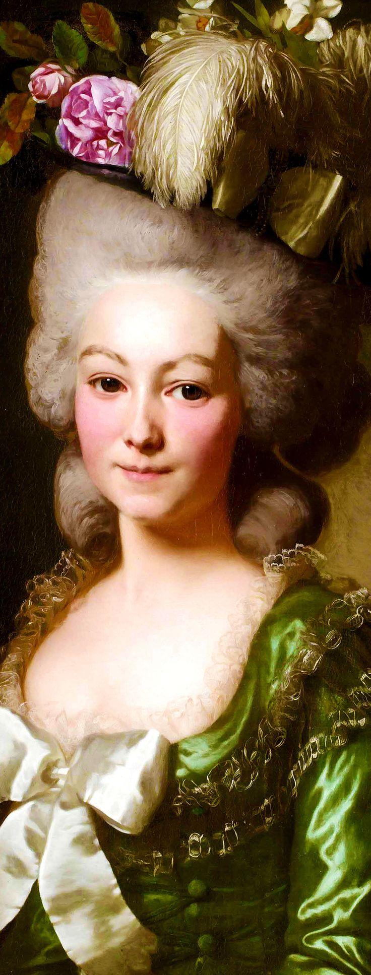 ALEXANDER ROSLIN. Portrait of a French Lady.