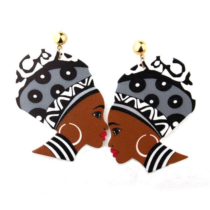 1Pair Bohemia Indian Woman Earrings Eardrop For Women Jewelry Gold Plated Trendy Colorful Figure Female Long Dangle  Earings