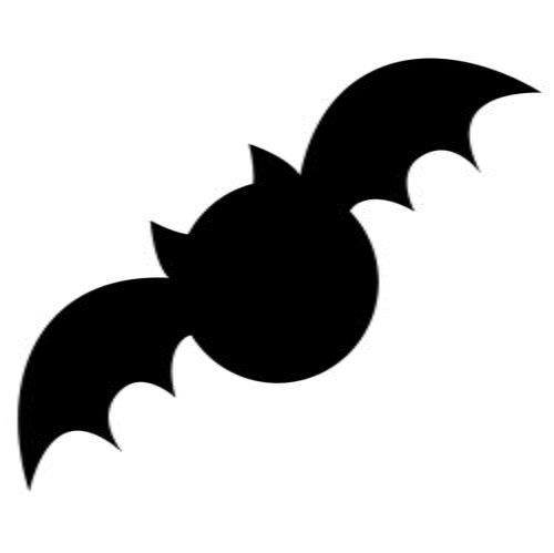 Spooky Bat Applique Template | Nothing says Halloween more than this free applique pattern!