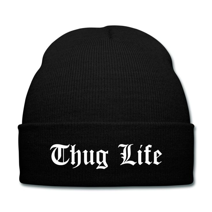 Thug Life Classic Beanie keeps you warm and is the only item every Thug should have! This beanie look Thug Life all the way and not even 10 bucks!