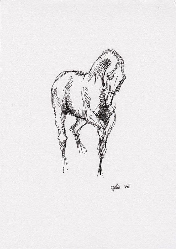 Original dibujo de un caballo de Doma Animal por benedictegele