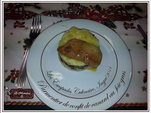 Parmentier de confit de canard et foie gras