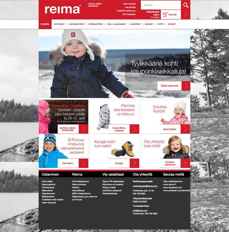REIMA B2C | Reiman verkkokaupan uudistuksen tehtävä oli selkeyttää ostopolku ja jalkauttaa uusi brändi myös verkkokauppaan.  #SamiTossavainen #Mainostoimisto #Markkinointitoimisto #B2C #Mainos #Digitaalinenmarkkinointi #Verkkopalvelu #Verkkokauppa