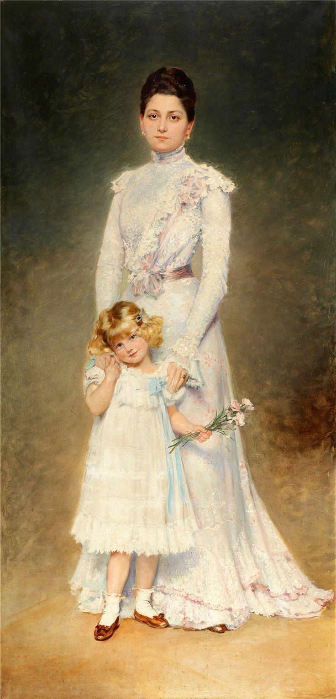 Adolf Pirsch (Austrian, 1858–1929) Portrait of Anna Maria Elisabeth Aloyse, Countess Chorinski Freiin von Ledske (1899-1988)