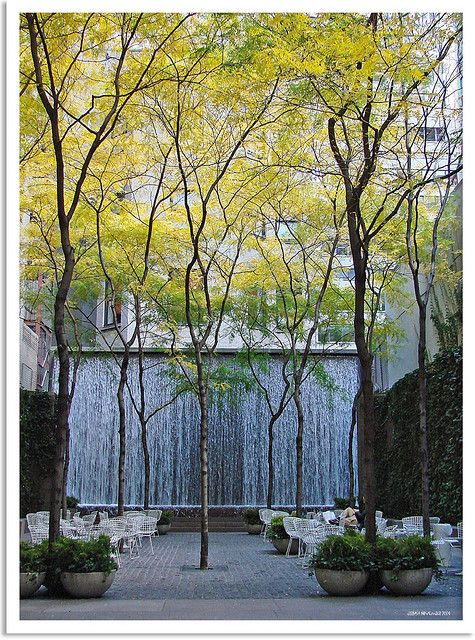 One of my favorite places in the world...Paley Park between Madison & 5th Aves New York City