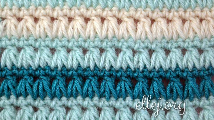 Ellej: Triads Crochet Stitch - photo tutorial, video and chart.