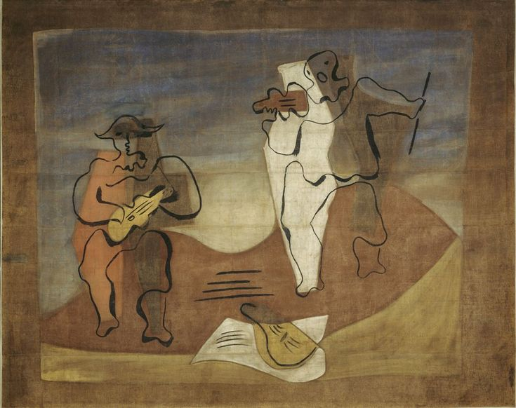 curtain for the ballet by pablo picasso in cuadro flamenco 1921 - Pablo Picasso Lebenslauf
