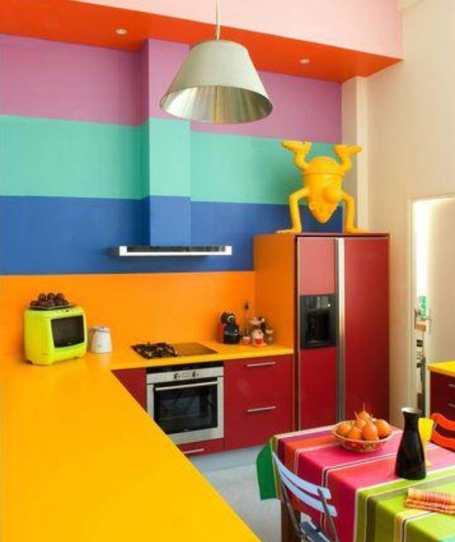 rainbow color kitchen design ideas