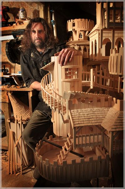 """A hand sculpted bough house by Robert Heard - """"Like a treehouse but a dreaming skywards citadel, a sculpture which you explore, a fairytale-esque journeyland to delight the mind's eye."""""""