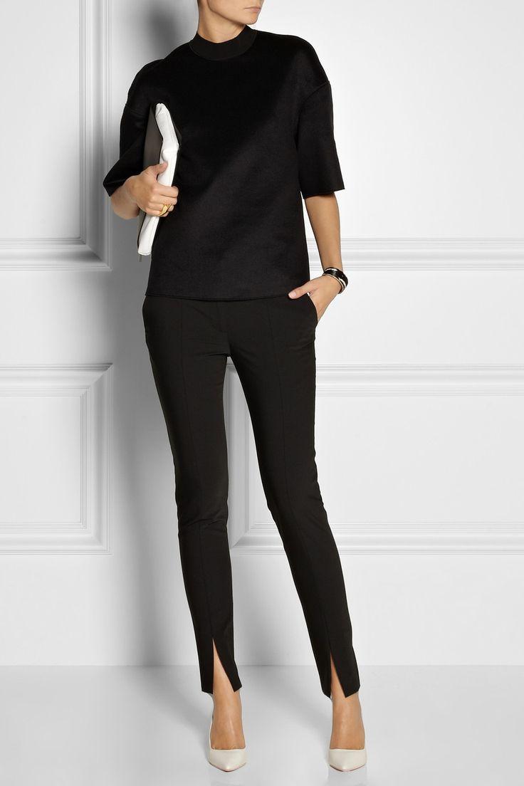 TIBI Slit-detailed woven pants