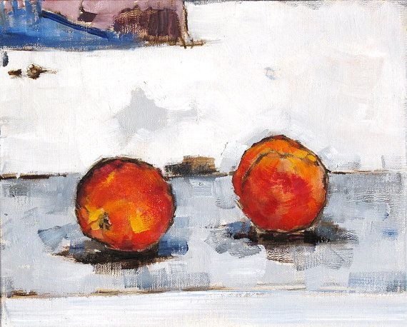 Peaches Painting Kitchen Art Still Life With by KevinInmanArt