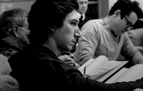 Adam Driver at the The Force Awakens table-read