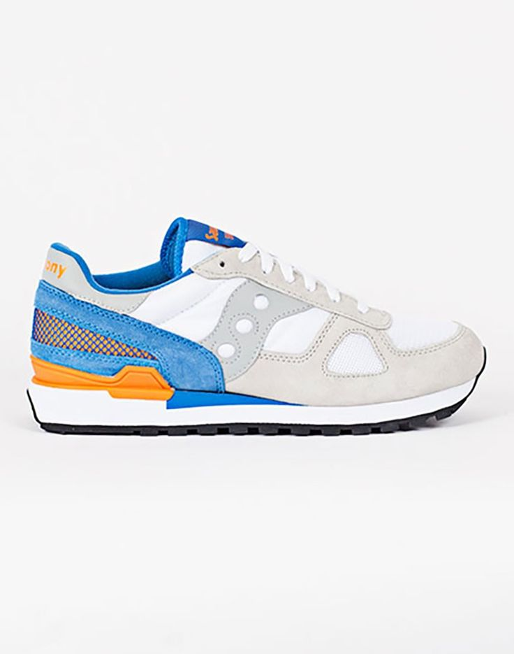 Saucony Shadow Original White/Blue Trainer  | Shop men's trainers at The Idle Man