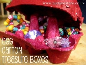 """egg carton treasure box   