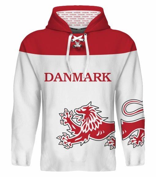 NEW 2015 Denmark Danmark Hockey World Cup Hoodie NHL Nielsen Eller Hansen Regin