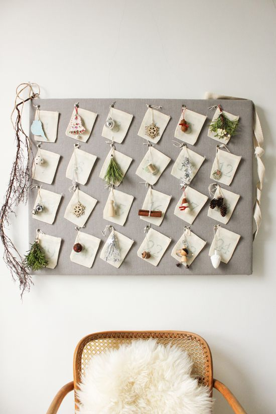 Adorn your wall with a rustic-inspired advent calendar this Christmas using this holiday tutorial.